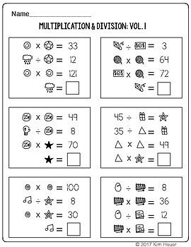 Math Logic Puzzles: Multiplication & Division Vol.1