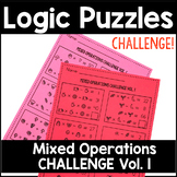 Math Logic Puzzles Mixed Operations CHALLENGE Volume 1
