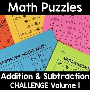 Math Logic Puzzles Addition Subtraction CHALLENGE Vol. 1