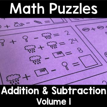 Math Logic Puzzles: Addition & Subtraction Enrichment Vol. 1