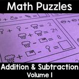 Math Logic Puzzles Addition & Subtraction Vol. 1