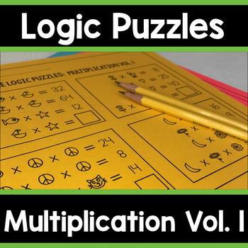 Math Logic Puzzles: Multiplication Enrichment Vol. 1