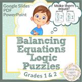 Math Logic Puzzle 1st 2nd Grades Distance Learning Independent Work Google Slide