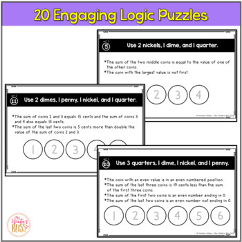 Math Logic Puzzles - Coin Counting- Set 2
