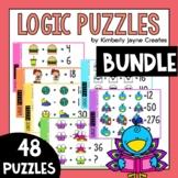 Math Logic Puzzle Brainteasers 1st Grade - 6th Grade Pack 2 BUNDLE