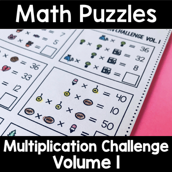 Math Logic Puzzles Multiplication CHALLENGE Volume 1