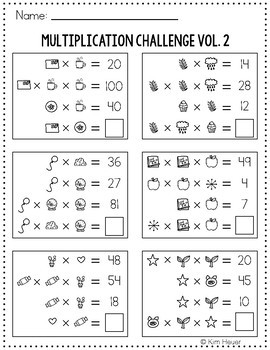 Math Logic Puzzles | Multiplication Challenge Vol. 2 Logic Problems