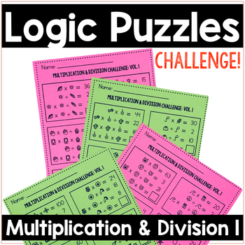 Math Logic Puzzles | Multiplication & Division Vol.1 Logic Problems