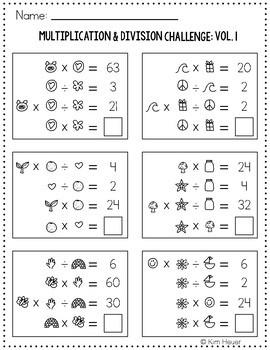Math Logic Puzzles   Multiplication & Division Vol.1 Logic Problems