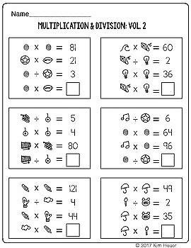 Math Logic Puzzles Multiplication & Division Volume 2