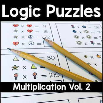 Math Logic Puzzles Multiplication Volume 2