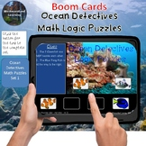 Math Logic Puzzles Ocean Detectives Set 1 Interactive Boom Cards