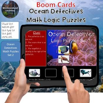 Math Logic Puzzles Ocean Detectives Set 2 Interactive Boom Cards
