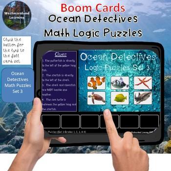 Math Logic Puzzles Ocean Detectives Set 3 Interactive Boom Cards
