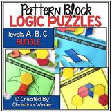 Math Logic Puzzles Shapes - levels A,B,C BUNDLE