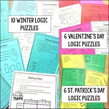 Math Logic Puzzles for the Entire Year (Grades 3-4)