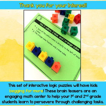 Math Logic Puzzles set 1 and 2 Bundle - DISTANCE LEARNING