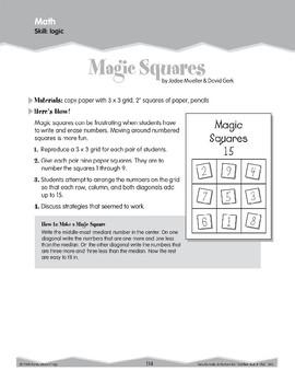 Math Logic (Ten-Minute Activities)