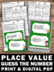 Place Value Word Problems Task Cards, Tens and Ones Activities, Guess the Number