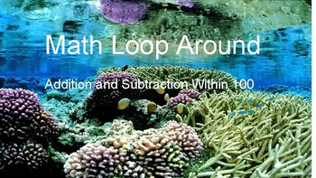 Math Loop Around Game (Addition/Subtraction Within 100) *WHOLE CLASS*