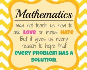 Math Love Hate Poster