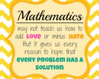 Math Love Hate Poster