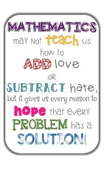 Math Love Poster