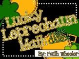 Lucky Leprechaun Math Task Cards