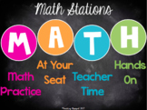 Math (M-A-T-H) Stations Template *Editable*