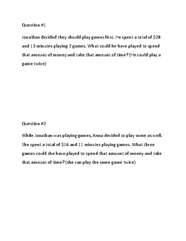 Math M-STEP Word Problems Performance Task Practice Grades 4/5