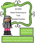 Math M-STEP Word Problems Performance Task Practice Grades 4/5 SET 2