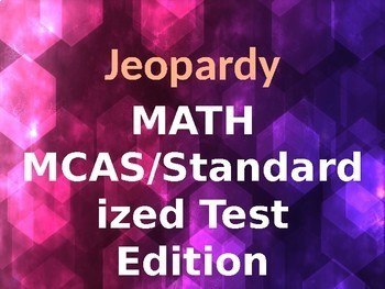 Math MCAS/Standardized Test Jeopardy Game- Grade 5