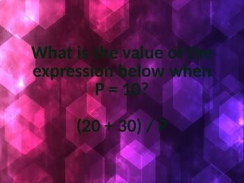 Math MCAS/Standardized Test Jeopardy Game- Grade 5