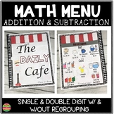 Addition and Subtraction Worksheets Math MENU