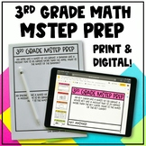 3rd Grade Math MSTEP Packet & Google Slides - Updated for