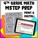 Math MSTEP Prep - 4th Grade Practice Packet & Google Slides