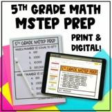 5th Grade Math MSTEP Packet & Google Slides - Digital and