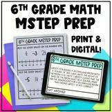 6th Grade Math MSTEP Packet & Google Slides - Digital and Printable Worksheets