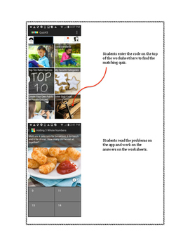 Math Made Easy! Free First Grade Math Worksheets to go with FREE APP!