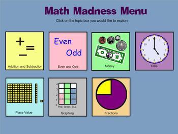 Math Madness 1st, 2nd, 3rd Grade Math review
