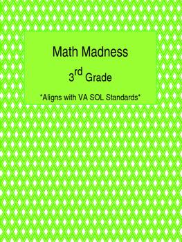 Math Madness 3rd Grade Homework