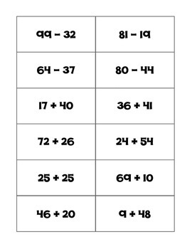 Math Madness Addition and Subtraction Basketball Game