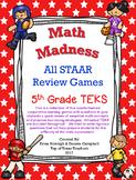 5th Grade Math Madness: All STAAR TEKS Games
