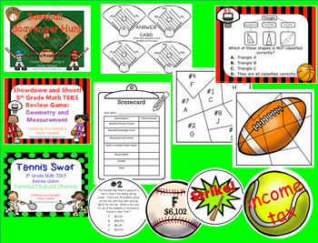 5th Grade Math Madness: All STAAR TEKS Games