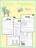 Math Madness April NO PREP