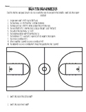 Math Madness- Area of composite figures on a basketball court