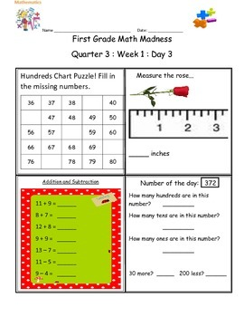 Math Warm-up  Q3W1 Math Madness