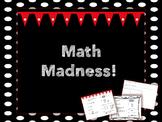 Weekly Math Review- Math Madness