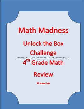 Math Madness - Escape Room Box Challenge