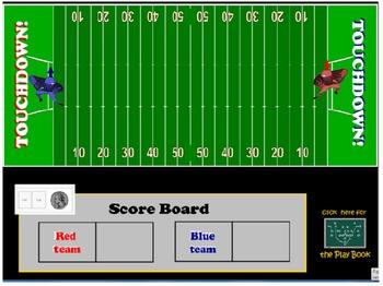 Math Madness SMART Notebook Football Game_4th grade